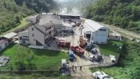 Trabzon'da Süt Ürünleri İmalatı Yapılan Fabrikada Çıkan Yangın Söndürüldü