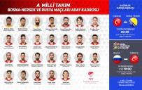 MEHMET ZEKI ÇELIK - Milli Takım aday kadrosu açıklandı