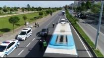 HATALı SOLLAMA - Trabzon'da Trafik Denetimlerinde Drone Dönemi Başladı