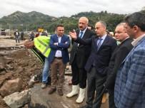 Trabzon'un Araklı İlçesinde Selden Sonra Hasar Tespit Çalışmaları Başladı