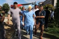 KURTARMA EKİBİ - Diş Hekimliği Fakültesinde Yangın Tatbikatı Yapıldı