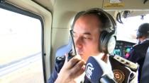 POLİS HELİKOPTERİ - Hız Sınırını Aşan Sürücü Helikopterden Kaçamadı