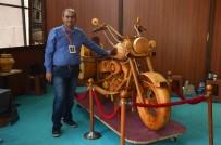 MAKINE MÜHENDISI - Makine Mühendisinin Hobisi, Ahşap Motosiklete Dönüştü