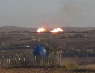 Silivri'de doğal gaz boru hattı patladı