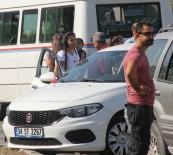 HACI SABANCI - Gelin Arabasına Cip Çarptı