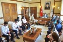 Erzincan'da Ki Milli Sporcular, Vali Arslantaş'ı Ziyaret Etti