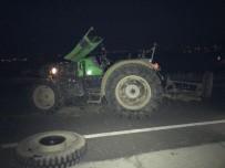 RAMAZAN ÇAKıR - Kamyon Traktöre Çarptı Açıklaması 1 Yaralı