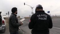 Kars'ta 'Drone' İle Trafik Denetimi
