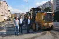 YAYA KALDIRIMI - Sakindere'de Belediye Asfalt Çalışması Başlattı