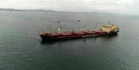 KARGO GEMİSİ - Çarpışan Gemiler Havadan Görüntülendi
