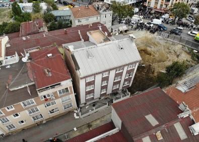 Çökme riski bulunan bina boşaltıldı