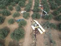 ZEYTINLIK - Düşen Uçağın Enkazı Drone İle Havadan Görüntülendi