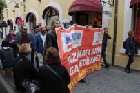 USULSÜZLÜK - Samsun'da Tazminatlarını Alamayan İşçilerden Protesto Yürüyüşü