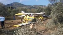 ZEYTINLIK - Tek Kişilik Uçak Motor Arızası Nedeniyle Düştü