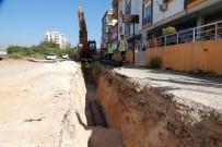ŞEBEKE HATTI - Mezitli'de 2. Kademe Kanalizasyon Hattı Çalışmaları
