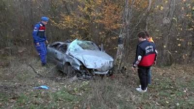 Kütahya'da Otomobil Şarampole Devrildi Açıklaması 4 Yaralı