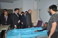 HAKKARİ VALİSİ - Bakan Soylu, Yüksekova'da Tedavileri Devam Eden Askerleri Ziyaret Etti