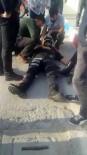 Kaza Geçiren Polisin Yardımına Vatandaş Koştu