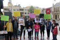 SOKAK HAYVANLARI - Kilis'te 9 Kişilik Gruptan Hayvanlara İşkence Protestosu