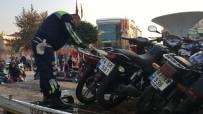 SÜRÜCÜ BELGESİ - Polisler Kurallara Uymayan Motosiklet Sürücülerine Göz Açtırmıyor