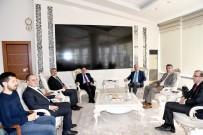 Başkan Polat, Eski Vali Ulvi Saran'ı Kabul Etti