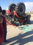 Adıyaman'da Traktör Devrildi Açıklaması 2 Yaralı