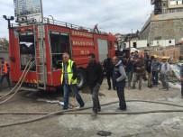 HASTANE - Hastane inşaatında yangın paniğe yol açtı
