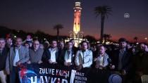 FATIH YıLMAZ - İsrail'in Gazze'ye Yönelik Saldırıları İzmir'de Protesto Edildi
