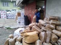 Samsun'da 2 Ton Kaçak Tütün Ve 430 Bin Dal Makaron Ele Geçirildi