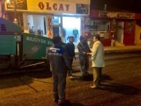 Saraycık Caddesi Asfaltlama Çalışmaları Gece De Devam Ediyor