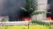 Zonguldak'ta Hastane İnşaatında Yangın