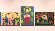 RESIM SERGISI - 'Cam Kemik Hastaları'ndan Karikatür Ve Resim Sergisi