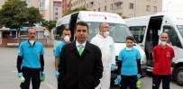 SERVİSÇİLER ODASI - Okul Servisleri Mikroplara Karşı Dezenfekte Ediliyor