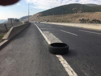 BAŞPıNAR - Otobanda Sürücülerin 'Çatlak' Korkusu