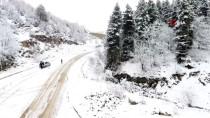 Sinop'ta Mevsimin İlk Karı Yağdı