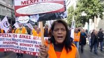 KEMER SIKMA - Yunanistan'da Kamu Çalışanları Greve Gitti