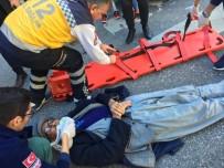 ATATÜRK BULVARI - Otomobil Yayaya Çarptı Açıklaması 1 Yaralı