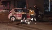 SÜRÜCÜ KURSU - Sürücü Kursu Eğitim Aracı Metro Üst Geçidine Çarptı Açıklaması 1 Ölü