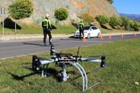 KURAL İHLALİ - Trafikte Drone'lu Denetimleri Sürüyor