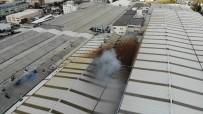 CIHANGIR - Avcılar'da Fabrika Yangını Havadan Görüntülendi