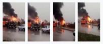 SERVİS ARACI - İşçileri Taşıyan Servis Aracı Yandı
