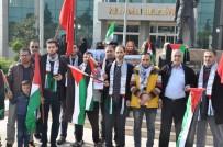 CUMA NAMAZI - Reyhanlı'daki Filistinliler İsrail'in Saldırılarını Kınadı
