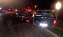Erdek'te İki Araç Çarpıştı Açıklaması 2 Yaralı