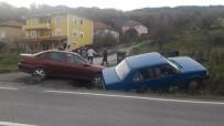 İki Araç Kanala Uçtu Açıklaması 1 Yaralı