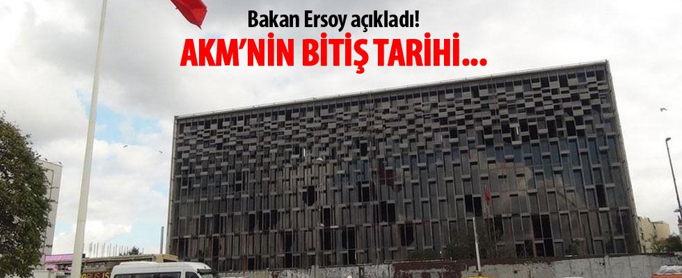 Bakan Ersoy açıkladı! AKM'yi 2021'de bitirmeyi düşünüyoruz