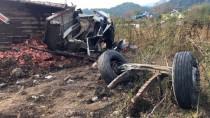 657 - Freni Patlayan Kamyon Devrildi Açıklaması 4 Yaralı
