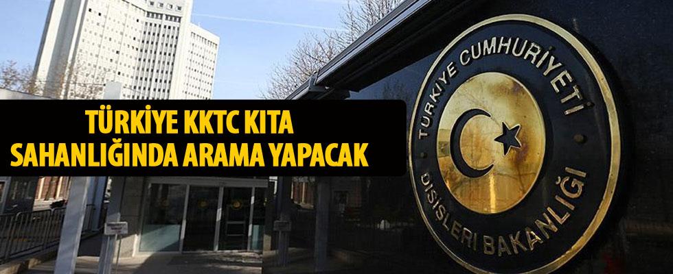 Türkiye KKTC'nin kıta sahanlığında arama yapacak