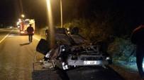 POLİS EKİPLERİ - Aşırı Hız Felakete Yol Açıyordu, Taklalar Atarak Durabildi