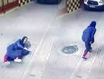 KAPKAÇ - Çantası çalınan Çinli kadın yerde metrelerce sürüklendi