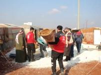 İDLIB - İdlib'e Battaniye Ve Sünger Yatak Yardımı